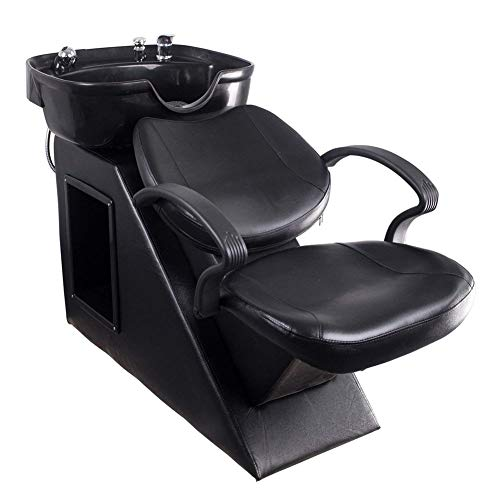 (Polar Aurora New Backwash Barber Chair Shampoo Bowl Sink Unit Station Spa Salon Equipment)