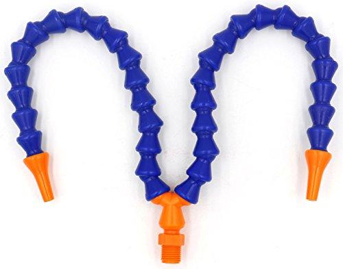 Baomain 1/4 PT Y Shape Round Nozzle Plastic Flexible Water Oil Coolant Pipe ()