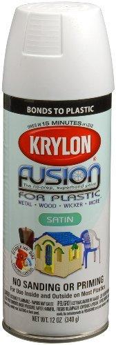 Krylon 2420 Fusion Spray Paint, Satin White by Krylon/Consumer Div Consumer Div Fusion