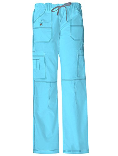 - Dickies Gen Flex Women's Youtility Drawstring Elastic Waist Scrub Pant Large ICY Turquoise