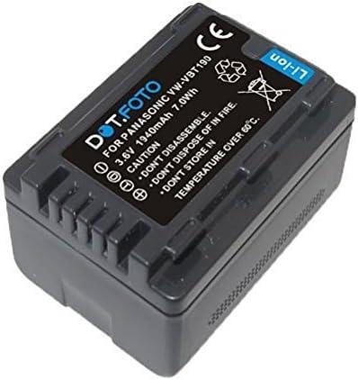 VW-VBT380E-K Batterie 3,6v // 3880mAh Dot.Foto Remplacement pour Panasonic VW-VBT380 Uniquement Compatible avec Les MOD/ÈLES PR/É 2018