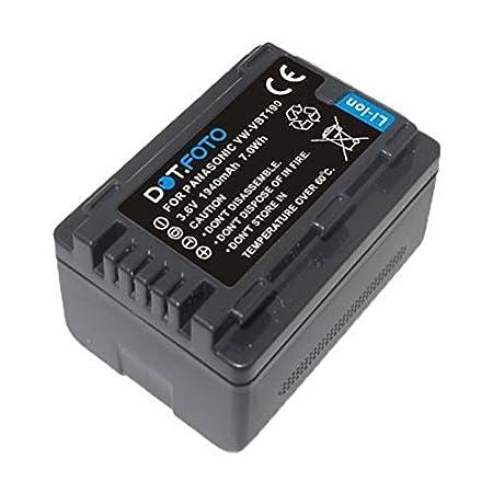 Panasonic VW-VBT380 PREMIUM Dot.Foto Baterí a de Reemplazo - 3.6V/3880mAh - Garantí a de 2 añ os [Vea compatibilidad en la descripció n] DFB/PST380