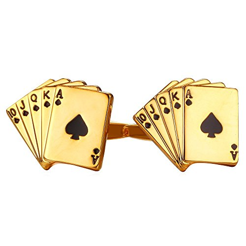 Poker Cufflinks Shirt Accessories Plated