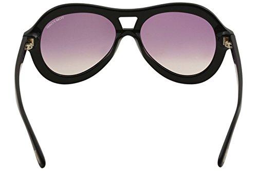 05f4c857364656 ... Lunettes de soleil Tom Ford Islay FT0514 C56 01Z (shiny black    gradient or mirror ...