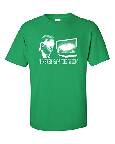 Jacted Up Tees Roger Goodell  I Never Saw The Video  Mens T Shirt   2Xl Irish Green  247