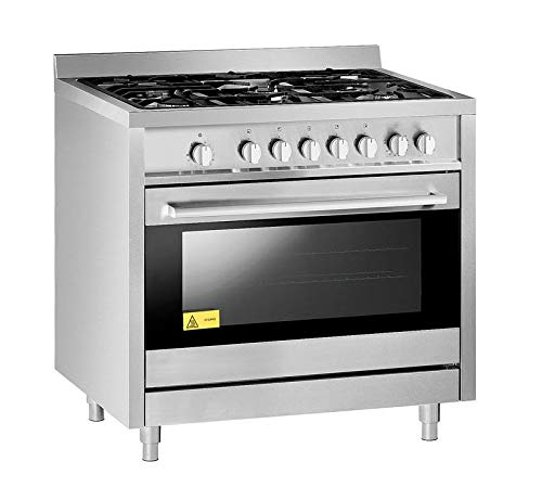 Cocina de gas con 5 quemadores y horno de gas, 900 x 600 x 900 mm ...