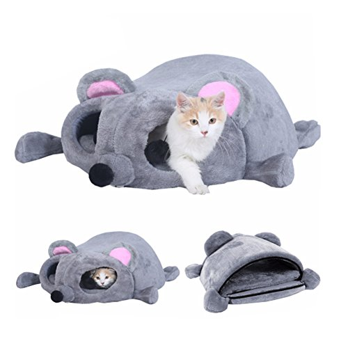 s Cat House Cartoon Mouse Cuddle - Cushion Mat and Skid-Free Base Perfect For Cat Kitten ()