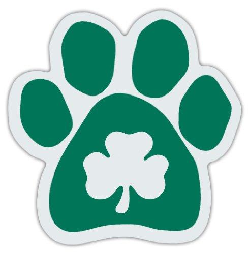 Clover Dog Paw Car Magnets - Irish Green - Great Design For Irish Setters