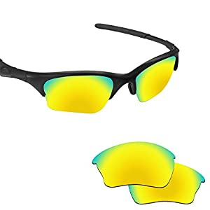 Fiskr Anti-saltwater Polarized Replacement Lenses for Oakley Half Jacket XLJ Sunglasses