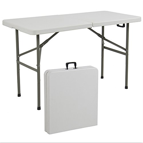 Folding Table 4' Portable Plastic Indoor Outdoor Picnic Party Dining Camp - Nj Garden Outlet Jersey