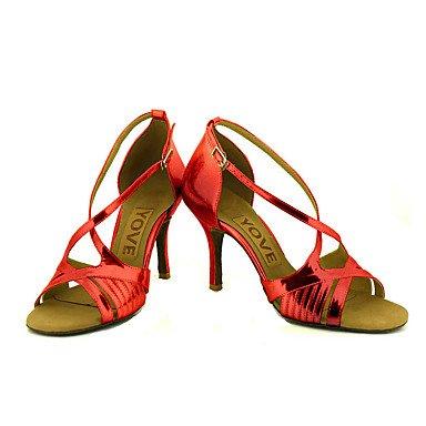 Personalizables Personalizado de Salsa Zapatos Negro Tacón Latino Plata Oro Red baile Azul Rojo Rosa BpvpwfTx