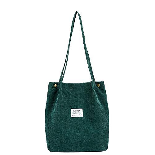 en Boot Corduroy Pure Shoulder Satchel Tote Hand Bag Travel Bag ()