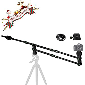 IMORDEN 6.5ft/2m Foldable and Entendable Mini Carbon Fiber Jib Arm(holds up to 8lbs) Camera Jib Crane With 1kg3pcs Counterweight, Bowl for 75~100mm Tripod Head and Arca-swiss Quick Release Plate