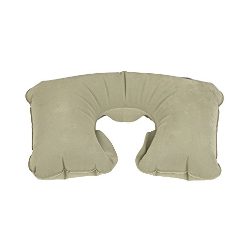 41 16dQHbOL - Lewis N. Clark Original Neckrest Inflatable Pillow, Waterproof Neck Pillow for Neck Support at the Beach, Pool + Airport Travel with Fully Adjustable Firmness and Included Carrying Pouch, Grey