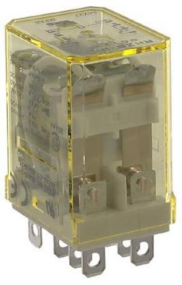 IDEC RH2B-UL-DC12V Relay, Compact, DPDT, 10AMP, 12VDC, 8BLADE, W/Indicator - Amp 12vdc Relay 10 Dpdt