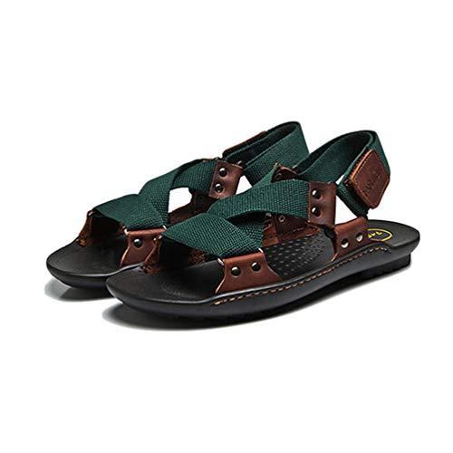 Pantofole Maschio Moda Sandali da per Verde Uomini Estate Spiaggia Scuro Scarpe Uomo xqTwnnB0gz