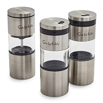 Sur La Table Magnetic Grilling Spice Shakers, Set Of 3