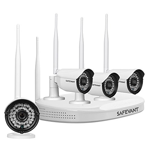 Safevant HD Wireless Security Camera System with 4pcs 1080p Waterproof IP Cameras 2TB Hard Drive