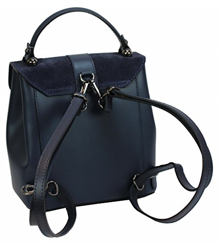 Bozana Bag Bo Blu Backpacker Designer Zaino Borsa In Pelle Da Donna Borsa A Tracolla In Pelle Nappa Pecore Italyneu