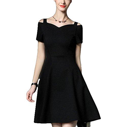 Modekleid elegantes kleines schwarzes Kleid ein kurzes Kragenkleid ...