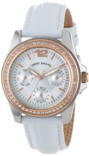 Tommy Bahama Swiss Women's TB2143 Riviera Swarovski Crystal Bezel White Dial Multi-Function Watch