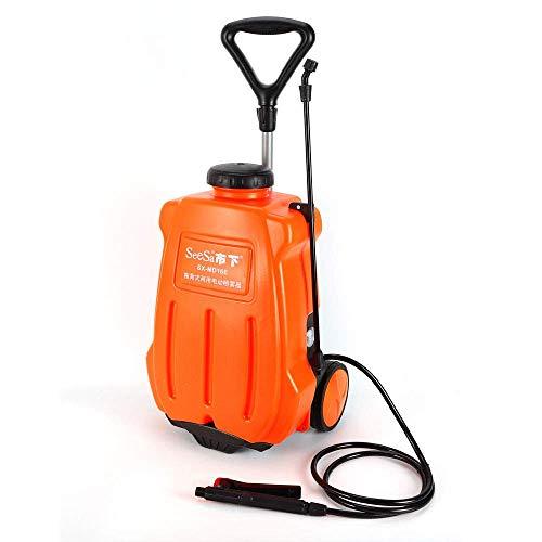 Eapmic 16L Backpack Sprayer, 4 Gallon Portable Garden Weed Sprayer with Wheels Rechargeable Battery Powered Trolley Sprayer for Farm Garden Lawn Yard Fertilizing Watering Weed Killing (4 Gallon Wheel Pump Sprayer)