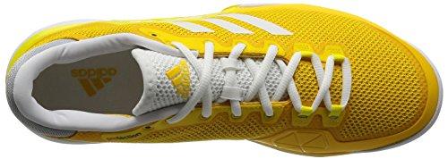 adidas Barricade 2017, Scarpe da Tennis Uomo Giallo (Eqt Yellow/Footwear White/Bright Yellow)