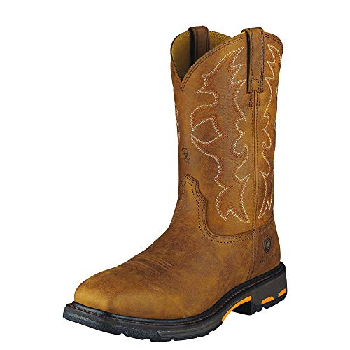 - ARIAT Men's Workhog Steel Toe Work Boot Rugged Bark Size 7.5 D/Medium Us