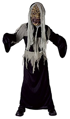 Most Popular Girl Costumes 2016 (Kids Boys Girls Graveyard Creep Costume Age 4-12 Years (Large (Age 10-12 Years), Black))