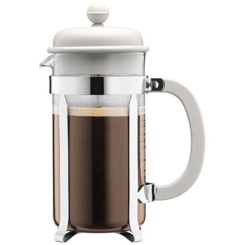 BODUM Caffettiera 8 Cup French Press Coffee Maker, Off White, 1.0 l, 34 oz 1918-913 1918-913_913