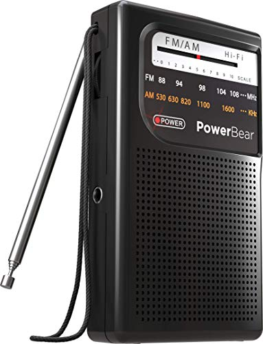 PowerBear Portable Radio | AM/FM, Battery Operated, Long Range