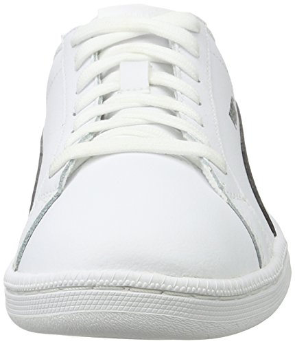 Leather Smash 43 black Puma White Weiß white Sneaker White Erwachsene 11 EU Unisex White qHqwt4