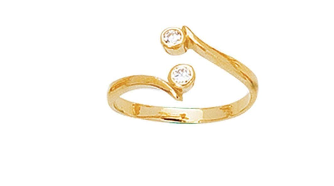 Toe Ring in 14kt Yellow Gold Shiny Bypass Type