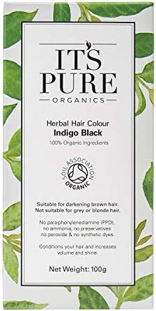 Organic tinte de pelo – Pelo a base de plantas color azul negro por es puro Organics