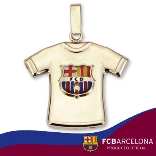 9K pendentif en or bouclier F.C.Barcelona