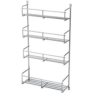 Amazon.com: Knape & Vogt SR15-1-FN Door-Mounted Spice Rack Cabinet ...