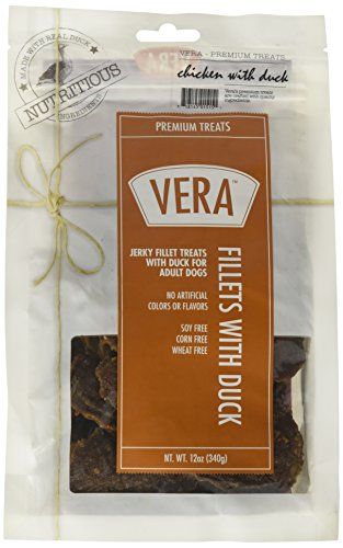 Vera Premium Jerky Fillet Treats With Duck For Dogs, 12Oz