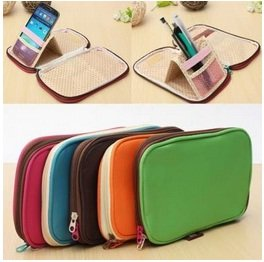 Foldable Multi Stationery Pencil Bag Cosmetic Storage Cases