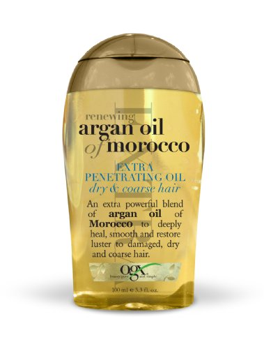 Organix  Renewing Moroccan Argan Oil Extra Strength Penetrating Oil for Dry/Coarse Hair, 3.3 Ounce (Organix Moroccan Argan Oil)