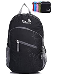 #1 Rated 20L/33L- Most Durable Packable Handy Lightweight Travel Backpack Daypack+Lifetime Warranty-Black
