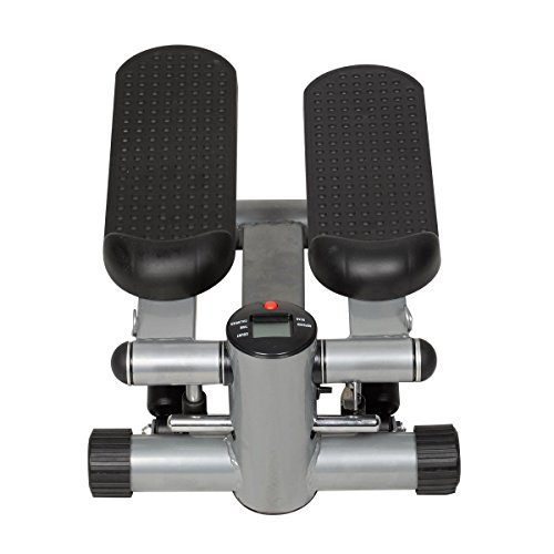 Gymax Fitness Twister Stepper w/ Resistance Bands, Cardio Air Climber Stepper Stair Step Machine