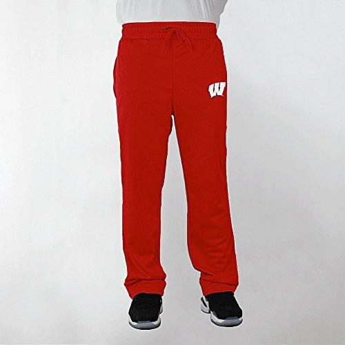 - Elite Fan Shop Wisconsin Badgers Poly Sweatpants Captain Cardinal - L
