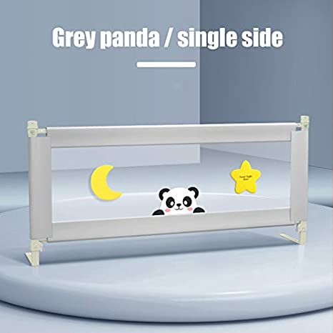 1.2M SEAAN Kids Bed Rail Universal Folding Anti-Fall Bed Safety Guardrail Guards Adjustable Height Vertical Lifting Toddlers Bed Rail with Double Safety Lockable Buckle for Toddler Baby and Children