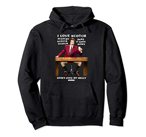 Anchorman Ron I Love Scotch Pullover Hoodie ()
