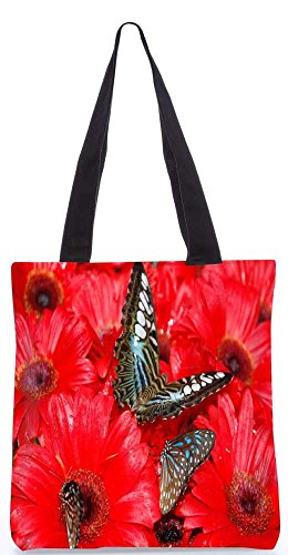 Snoogg Brauner Schmetterling Tragetasche 13,5 X 15 In Shopping-Dienstprogramm Tragetasche Aus Polyester Canvas
