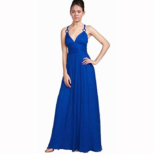 Vestito damigella blu cobalto