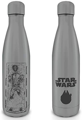 OFFICIAL STAR WARS CHEWBACCA METAL DOUBLE WALLED WATER DRINKS BOTTLE FLASK