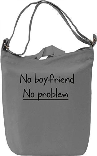 No Boyfriend Borsa Giornaliera Canvas Canvas Day Bag| 100% Premium Cotton Canvas| DTG Printing|
