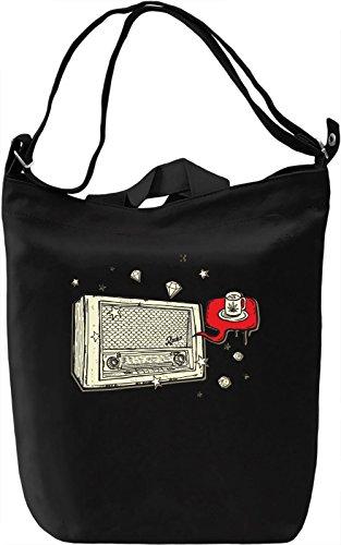 Vintage radio Borsa Giornaliera Canvas Canvas Day Bag| 100% Premium Cotton Canvas| DTG Printing|