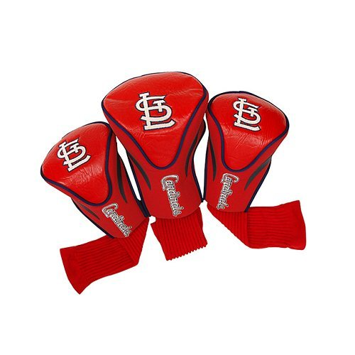 Team Golf MLB St Louis Cardinals Contour Golf Club Headcovers (3 Count), Numbered 1, 3, & X, Fits Oversized Drivers, Utility, Rescue & Fairway Clubs, Velour lined for Extra Club Protection - Louis Cardinals Mlb Golf